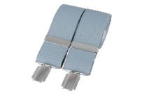Dalaco BR-007 Plain Grey 33mm Silver Clip Braces